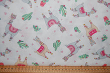 fabric shack sewing quilting sew fat quarter cotton quilt patchwork deb strain moda llama love hearts valentine valentines day cactus flower floral bunting pink white aqua blue (5)