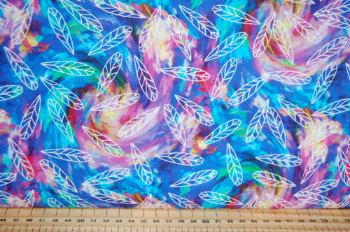 fabric shack sewing quilting sew fat quarter cotton quilt patchwork dressmaking 3 three wishes bright birds digital print feathers panel blossom navy lilac (2)