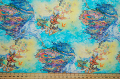 fabric shack sewing quilting sew fat quarter cotton quilt patchwork dressmaking 3 three wishes josephine wall wings of joy panel butterflies winged goddess red admiral wings butterfly (4)