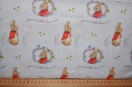 fabric shack sewing quilting sew fat quarter cotton quilt patchwork dressmaking beatrix potter peter rabbit panel flopsy mopsy jemima puddleduck mrs tiggywinkle jeremy fisher (2)