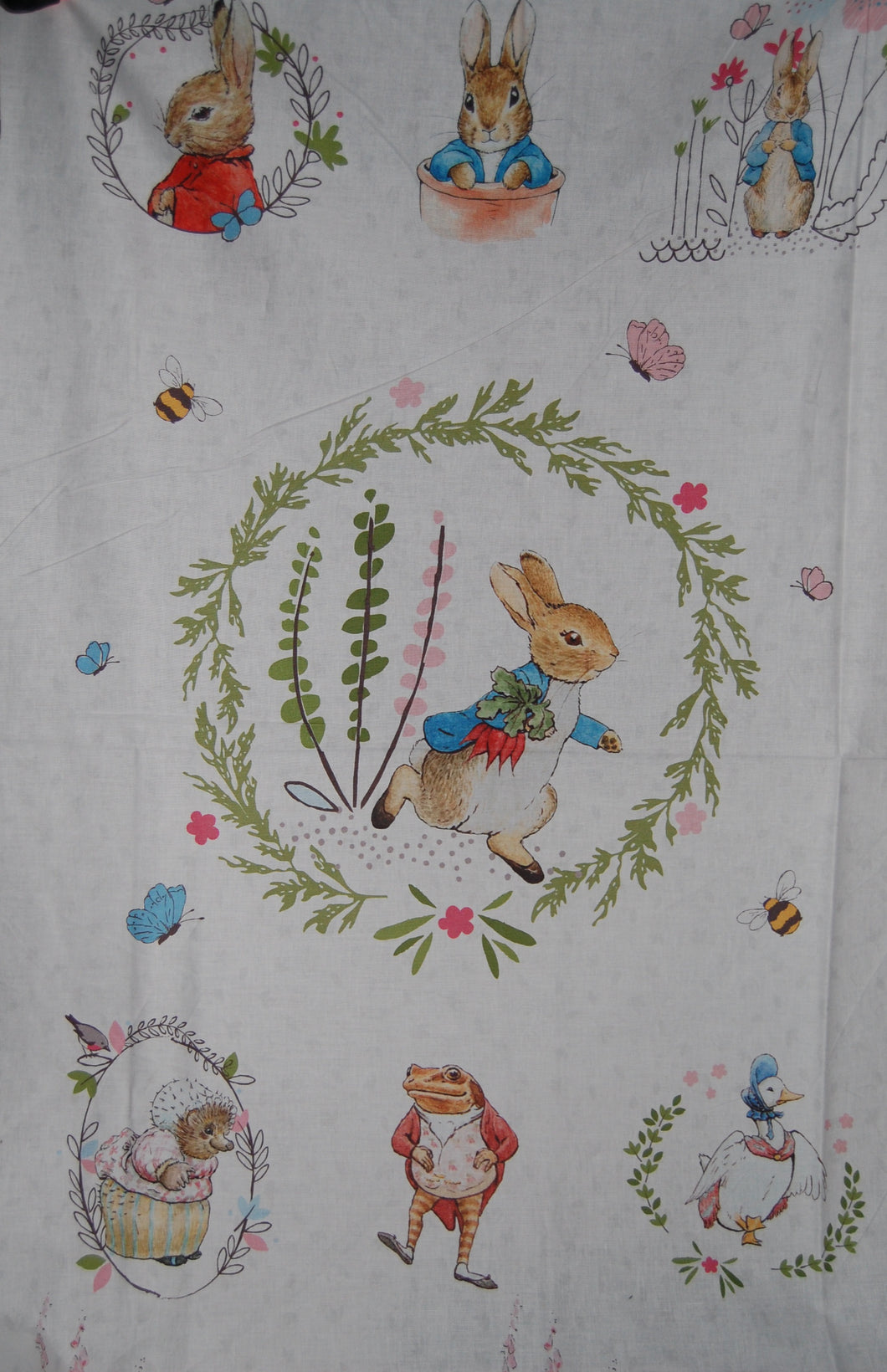 Cotton Tale BTY Beatrix Potter Quilting Treasures Peter Rabbit Pink