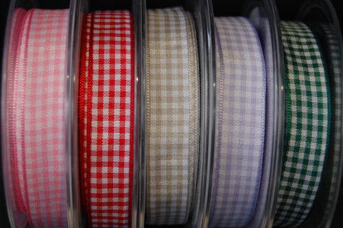 Berisfords Gingham Ribbon/Trim 15mm