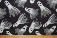 fabric shack sewing quilting sew fat quarter cotton quilt patchwork dressmaking blank ghoulish gatherings goulish glow in the dark halloween goth emo ghosts skulls dolls raven crow skeletons moon broken
