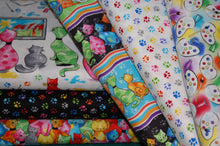 fabric shack sewing quilting sew fat quarter cotton quilt patchwork dressmaking blank pablo picatsso picasso artist palatte palette paint brush cat kitten art drawing painting paw prints studio
