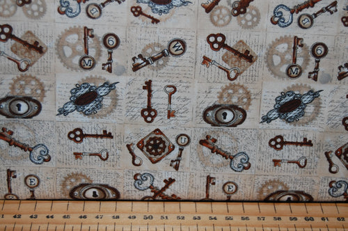 Blank Quilting 'Unknown Voyage' Steampunk Keys