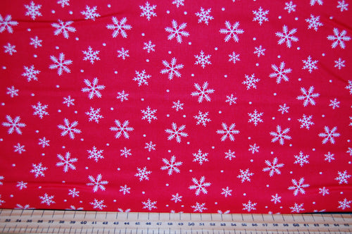 fabric shack sewing quilting sew fat quarter cotton quilt patchwork dressmaking christmas holiday peace on earth dove snowflake red grey floral flowers (4)