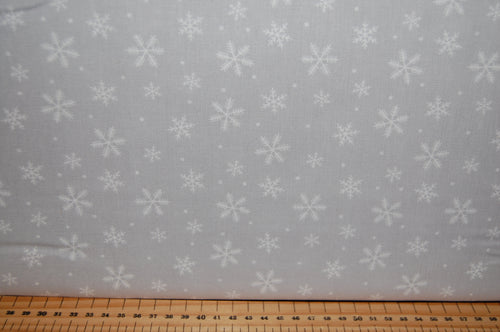 fabric shack sewing quilting sew fat quarter cotton quilt patchwork dressmaking christmas holiday peace on earth dove snowflake red grey floral flowers (6)