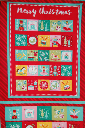 fabric shack sewing quilting sew fat quarter cotton quilt patchwork dressmaking christmas holidays xmas advent calendar panel block nutcracker project stuart hillard