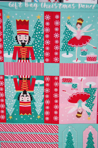 fabric shack sewing quilting sew fat quarter cotton quilt patchwork dressmaking christmas holidays xmas gift bag nutcracker project stuart hillard