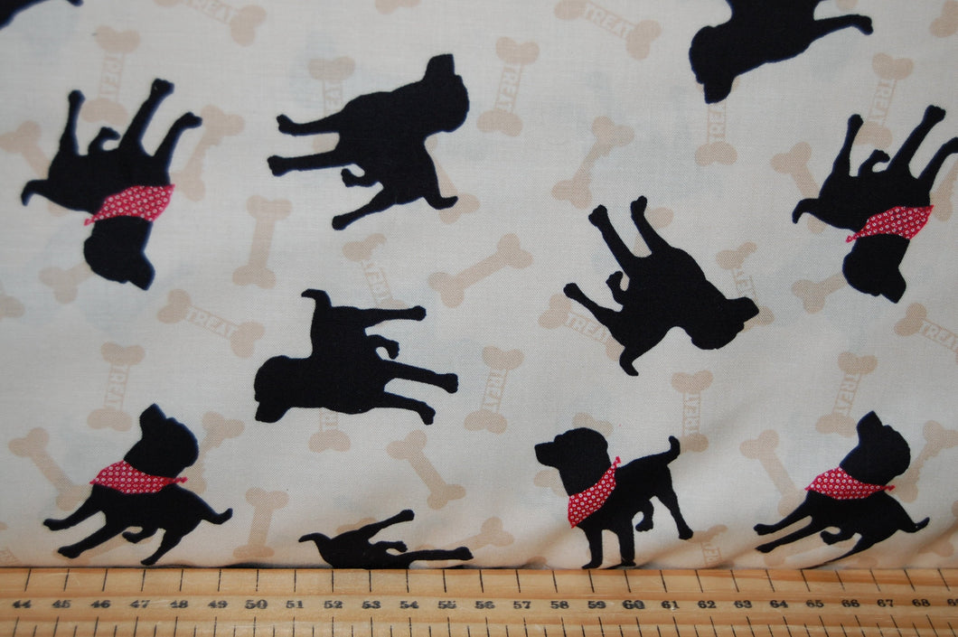 fabric shack sewing quilting sew fat quarter cotton quilt patchwork dressmaking clothworks dan di paolo wigglebutts paw prints black labrador puppy dog block love (4)