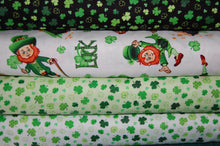 fabric shack sewing quilting sew fat quarter cotton quilt patchwork dressmaking colour color principle henry glass irish folk st saint patricks paddy's day leprechaun pixie luck shamrock pot gold (4) celtic knot