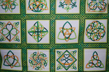 fabric shack sewing quilting sew fat quarter cotton quilt patchwork dressmaking colour color principle henry glass irish folk st saint patricks paddy's day leprechaun pixie luck shamrock pot gold (6) celtic knot