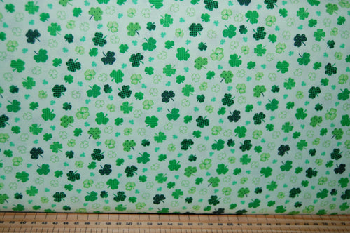 fabric shack sewing quilting sew fat quarter cotton quilt patchwork dressmaking colour color principle henry glass irish folk st saint patricks paddy's day leprechaun pixie luck shamrock pot gold (3) celtic knot