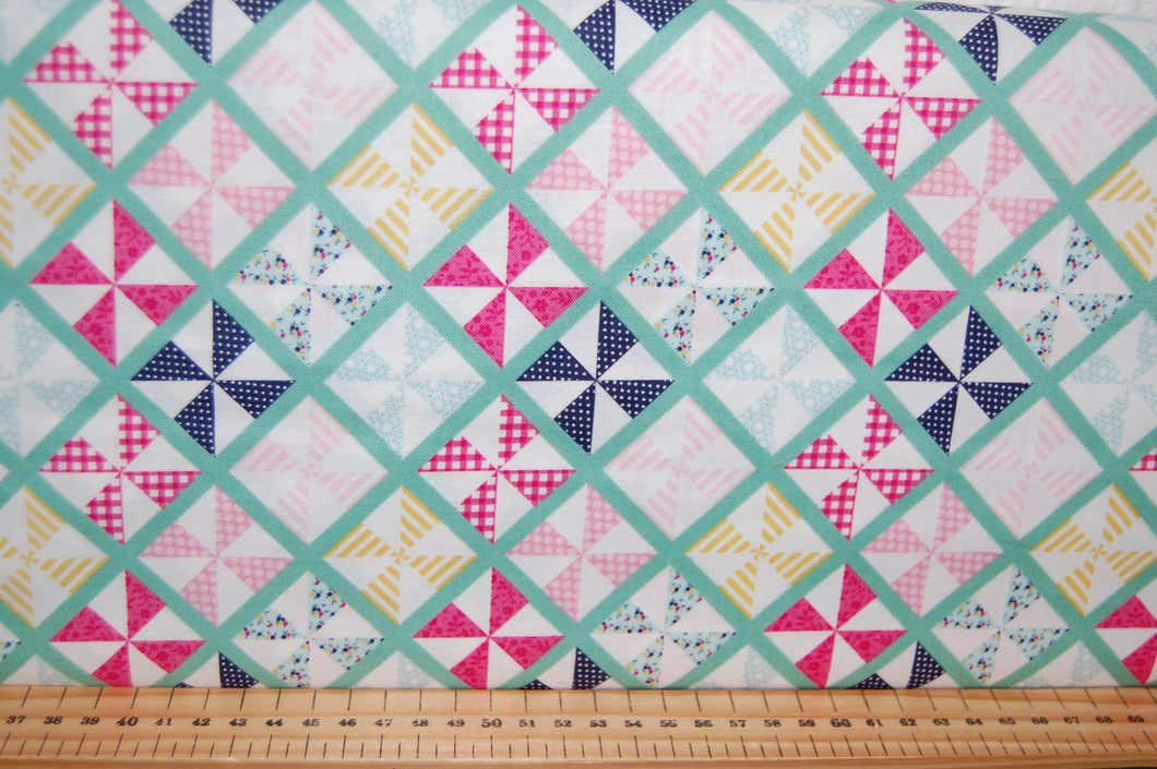 fabric shack sewing quilting sew fat quarter cotton quilt patchwork dressmaking dani mogstad riley blake id rather be glamping caravan tent bicycle panel placemat bunting pillow pot holder (5)