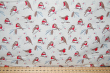 fabric shack sewing quilting sew fat quarter cotton quilt patchwork dressmaking debbie shore deck the halls christmas holidays xmas robins love birds hearts (3)