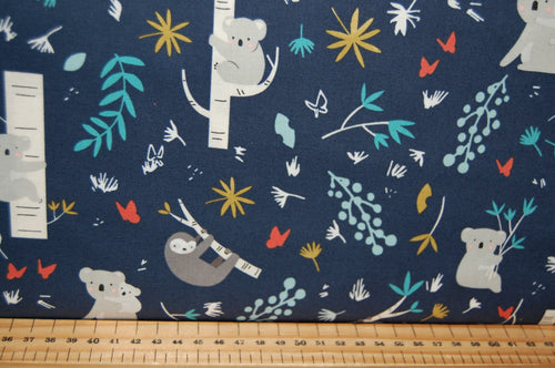 fabric shack sewing quilting sew fat quarter cotton quilt patchwork dressmaking deena rutter riley blake joey koala sloth sloths bear jungle bamboo trees (3)