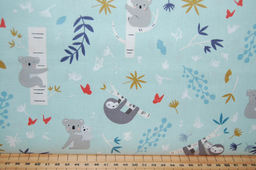 fabric shack sewing quilting sew fat quarter cotton quilt patchwork dressmaking deena rutter riley blake joey koala sloth sloths bear jungle bamboo trees (4)