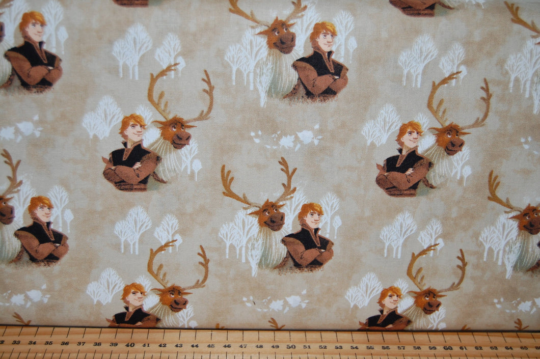 fabric shack sewing quilting sew fat quarter cotton quilt patchwork dressmaking disney frozen 2 two anna elsa olaf snowman moose reindeer svan kristoff kristov (2)