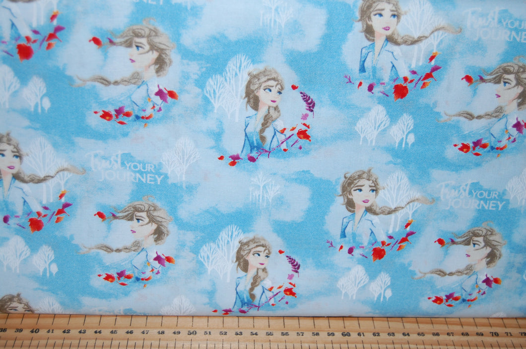 fabric shack sewing quilting sew fat quarter cotton quilt patchwork dressmaking disney frozen 2 two anna elsa olaf snowman moose reindeer svan kristoff kristov