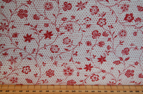 fabric shack sewing quilting sew fat quarter cotton quilt patchwork dressmaking french general moda red flowers floral christmas holidays