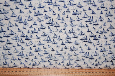 fabric shack sewing quilting sew fat quarter cotton quilt patchwork dressmaking janet clare moda ebb and & flow fish fishes yacht boat sail sailboat sailing harbour whales stars blue grey cream seaweed s (3)