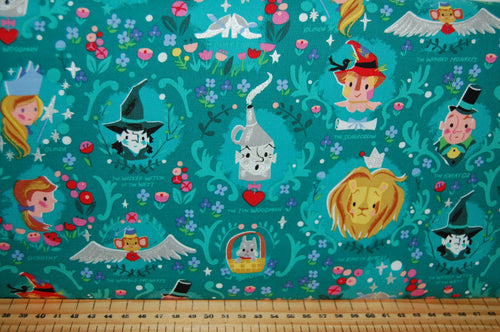 fabric shack sewing quilting sew fat quarter cotton quilt patchwork dressmaking jill howarth riley blake dorothy dorothy's journey wizard of oz yellow brick road wicked witch metallic lion tin man (2)