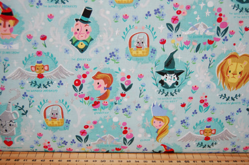 fabric shack sewing quilting sew fat quarter cotton quilt patchwork dressmaking jill howarth riley blake dorothy dorothy's journey wizard of oz yellow brick road wicked witch metallic lion tin man (5)