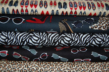 fabric shack sewing quilting sew fat quarter cotton quilt patchwork dressmaking kate mawdsley henry glass shoe love is true sunglasses handbags bags accessories boots purses animal print leop (5)