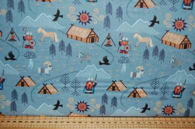 fabric shack sewing quilting sew fat quarter cotton quilt patchwork dressmaking lewis & and irene vikings viking village dragon eagle village (7)