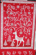 fabric shack sewing quilting sew fat quarter cotton quilt patchwork dressmaking makower andover scandi christmas advent calendar panel reindeer stag red grey