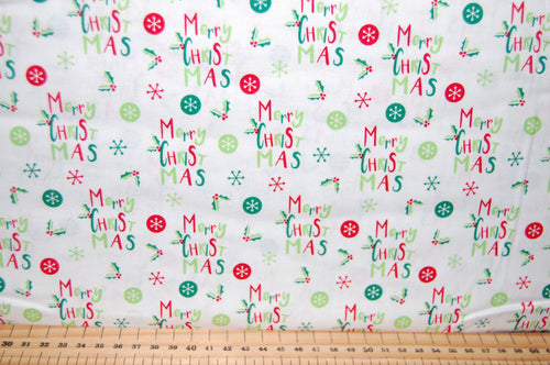 fabric shack sewing quilting sew fat quarter cotton quilt patchwork dressmaking santa elves father christmas woods reindeer happy merry snowflake fun kids (5)