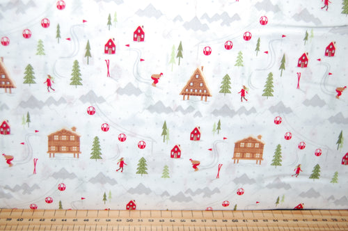 fabric shack sewing quilting sew fat quarter cotton quilt patchwork dressmaking ski resort skiing slopes lodge piste lumberjack check tartan village christmas holidays snow snowflake (3)