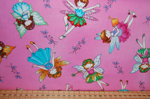 fabric shack sewing quilting sew fat quarter cotton quilt patchwork dressmaking studio e fairy land fairyland fairies houses house jars glow in the dark childrens girls kids (4)