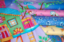 fabric shack sewing quilting sew fat quarter cotton quilt patchwork dressmaking studio e fairy land fairyland fairies houses house jars glow in the dark childrens girls kids (7)