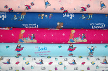 fabric shack sewing quilting sew fat quarter cotton quilt patchwork roald dahl quentin blake quintin matilda books library miss honey trunchball