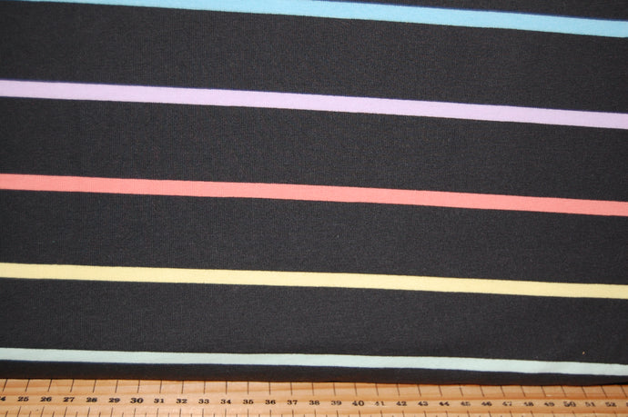 fabric shack sewing quilting sew fat quarter cotton quilt patchwork tilly & and the buttons organic Jersey gots stretch knit black stripe (2)