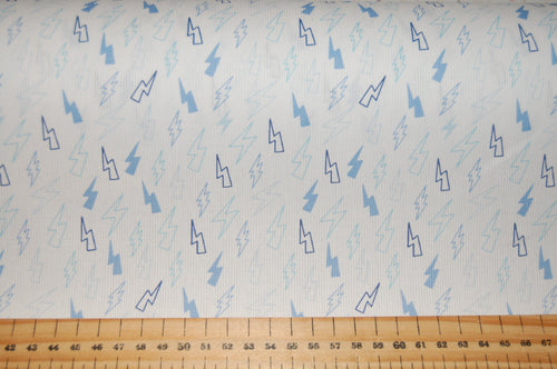 fabric shack sewing quilting sew fat quarter cotton quilt pathcwork fabric wonder ribbed cotton little lightning bolts rose pink baby blue (5)