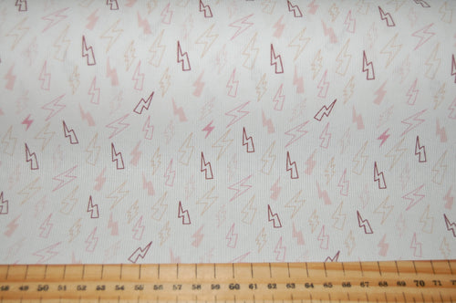 fabric shack sewing quilting sew fat quarter cotton quilt pathcwork fabric wonder ribbed cotton little lightning bolts rose pink baby blue (6)