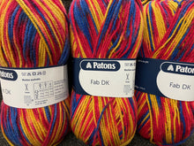 fabric shack knitting crochet yarn wool patons dk double knit fab dk varigated 2326 raspberry 100g
