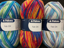 fabric shack knitting crochet yarn wool patons dk double knit fab dk varigated various colours 100g