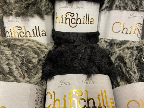 fabric shack knitting knit crochet wool yarn chinchilla faux fur fluffy brown black