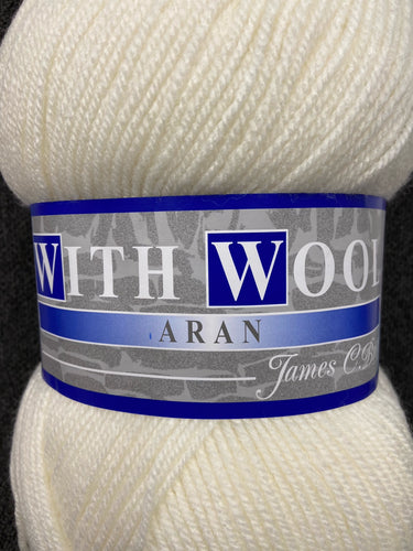 fabric shack knitting knit crochet wool yarn james c brett aran with wool jumbo 400g cream natural 4AR02
