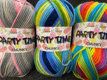 fabric shack knitting knit crochet wool yarn james c brett party time partytime chunky various colours