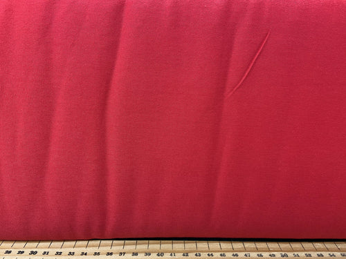 fabric shack sewing dressmaking clothes making t-shirt jersey stretch plain red