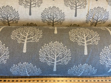 fabric shack sewing quilting sew cotton polyester linen look mulberry tree dove grey craft home curtain blinds natural  print (6)