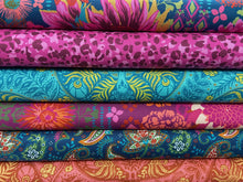 fabric shack sewing quilting sew fat quarter cotton patchwork quilt crystal manning for moda kasada peacock pod pink