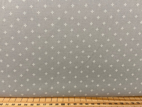 fabric shack sewing quilting sew fat quarter cotton patchwork quilt moda bunny hill designs country christmas stars red cream grey 2