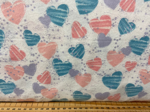 fabric shack sewing quilting sew fat quarter cotton patchwork quilt mommy mummy & and me brushed cotton flannel whales elephants hearts giraffes baby