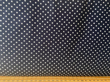 fabric shack sewing quilting sew fat quarter cotton patchwork quilt rose & and hubble polka dot dots spots navy blue 3mm
