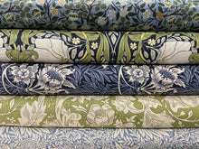fabric shack sewing quilting sew fat quarter cotton patchwork william morris v & a victoria and albert classic floral flowers larkspur arona